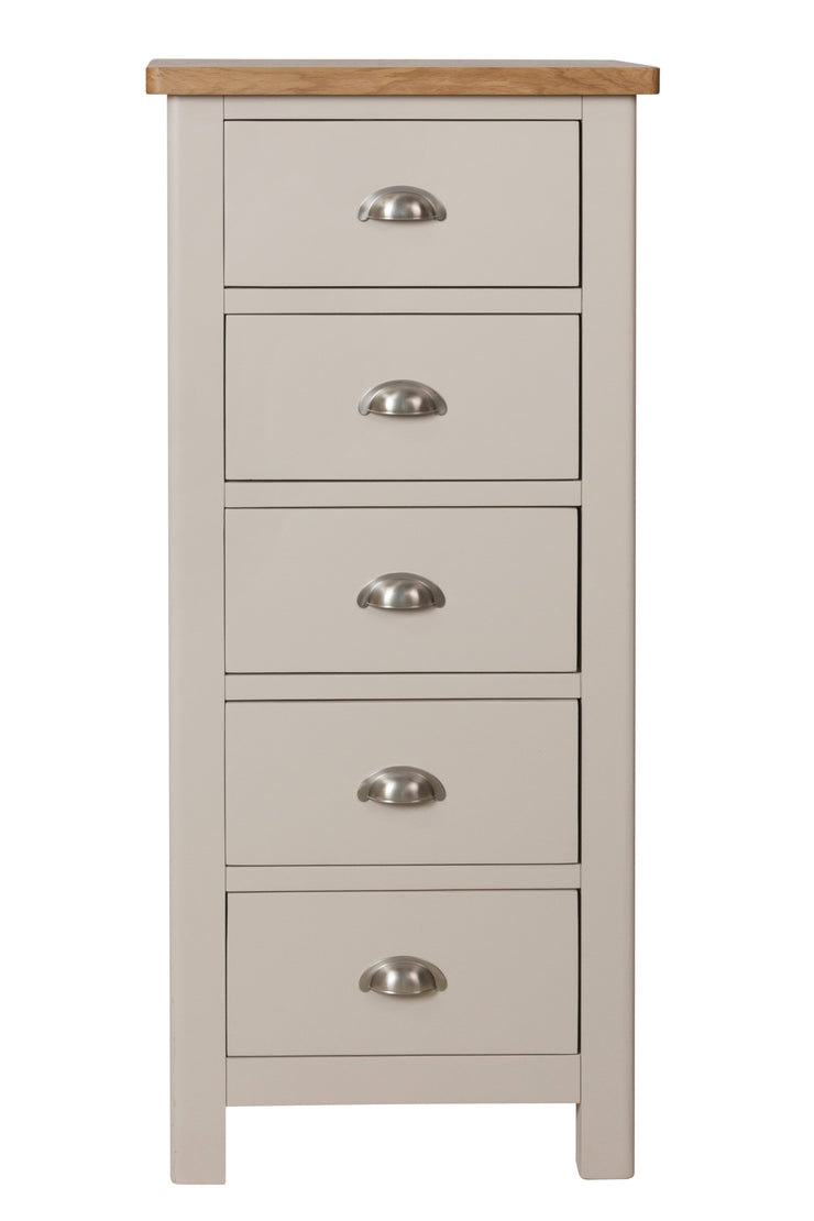Stratford Painted 5 Drawer Narrow Chest of Drawers