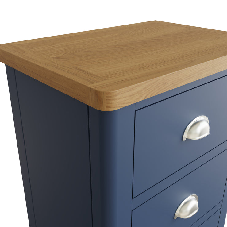 Stratford Blue Painted 5 Drawer Narrow Chest of Drawers