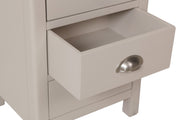 Stratford TruffleDove Grey Painted 3 Drawer Bedside Table