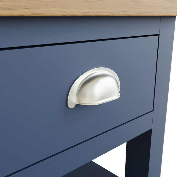 Stratford Blue Painted 1 Drawer Lamp Table