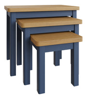Stratford Blue Painted Nest of 3 Tables