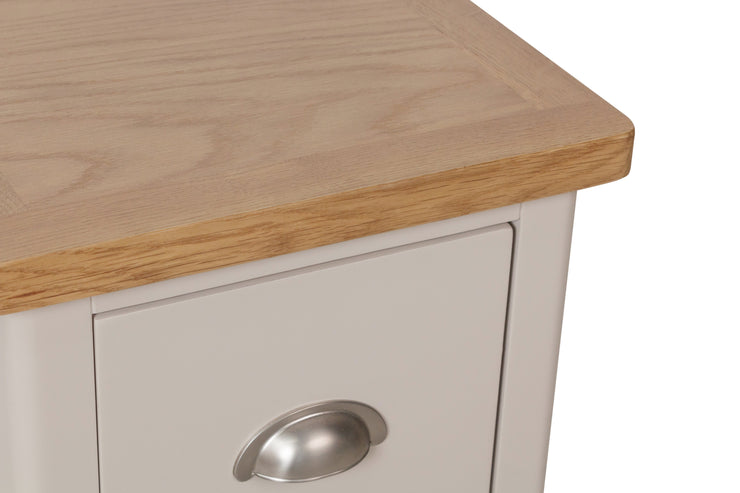 Stratford Truffle Dove Grey Painted Small Bedside Table