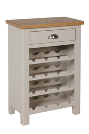 Stratford Truffle Dove Grey Painted Wine Cabinet