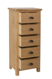 Stratford Traditional 5 Drawer Narrow Chest of Drawers
