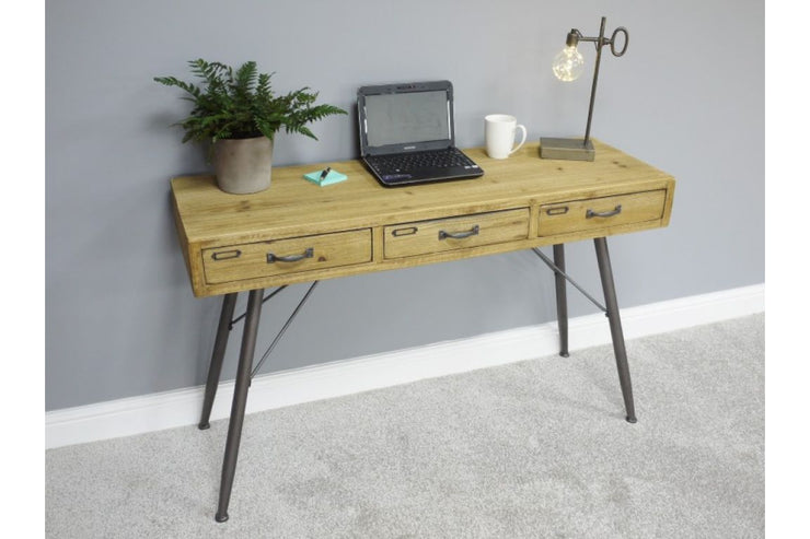 Retro Wooden 3 Drawer Desk