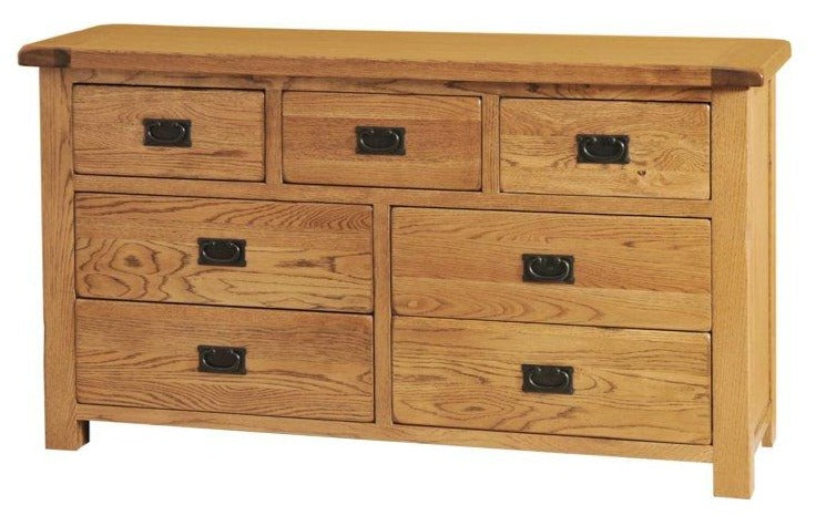 Rustic Oak 3 Over 4 Chest Of Drawers