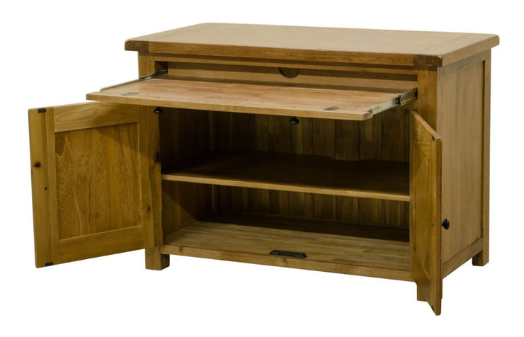 Rustic Oak Computer Workstation