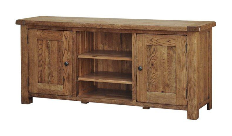 Rustic Oak Large TV Cabinet