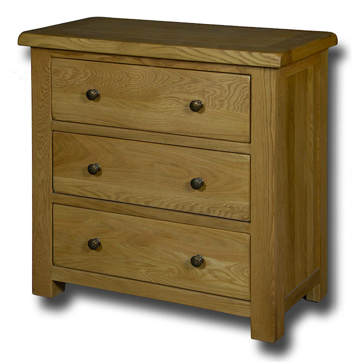 Manhattan Oak 3 Drawer Wide Chest of Drawers