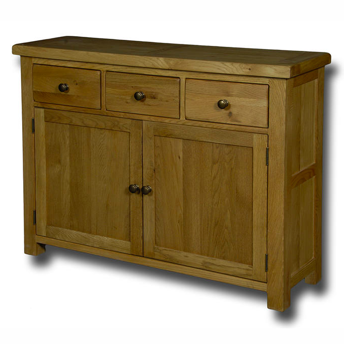 Manhattan Oak 3 Drawer 2 Door Sideboard