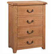 Somerset Oak 4 Drawer Chest of Drawers