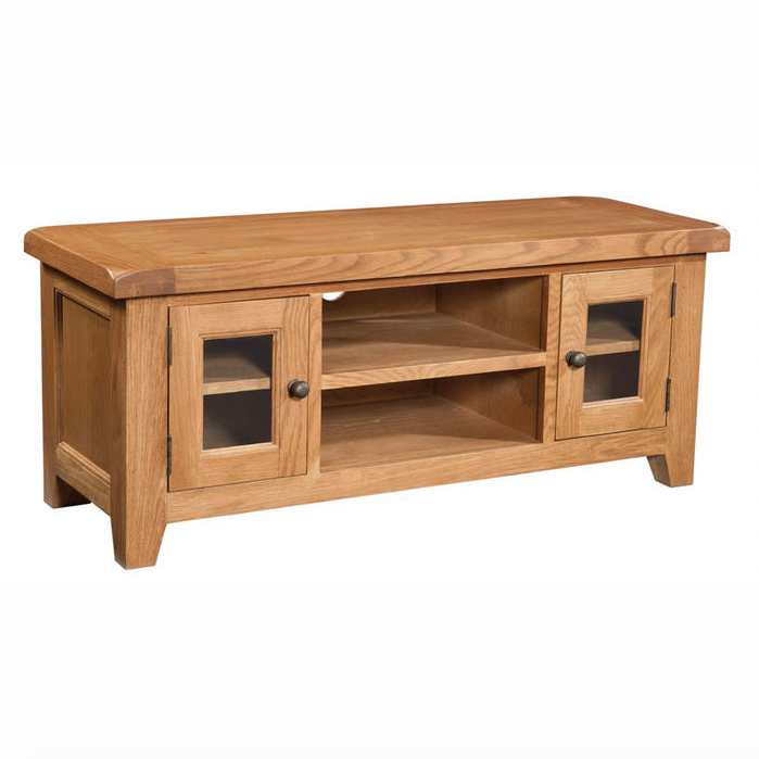 Somerset Oak Large TV Unit