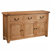 Somerset Oak 3 Door 3 Drawer Sideboard