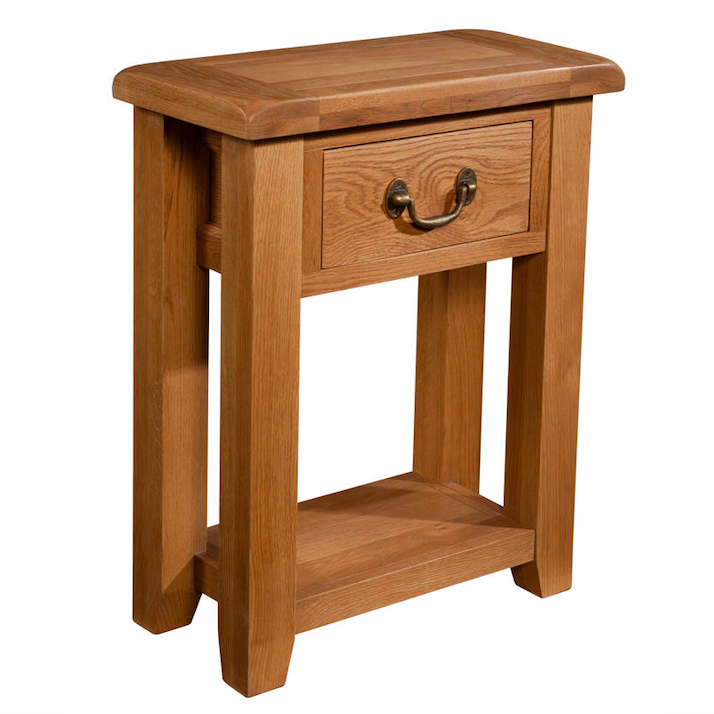 Somerset Oak 1 Drawer Console Table