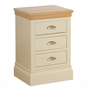 Lundy Painted 3 Drawer Bedside Table