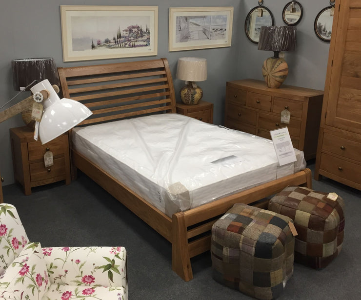 Vienna Oak Bow Fronted Bed Frame