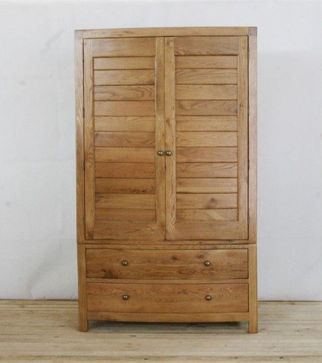 Vienna Oak Bow Fronted Wardrobe with Drawer