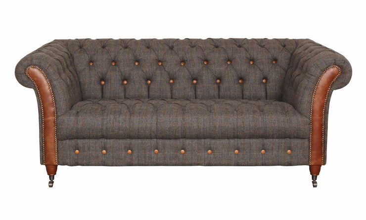 Chester Club 3 Seater Sofa - Moreland Harris Tweed