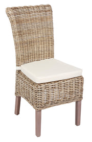 Wicker Chair with Cushion - Various Colours