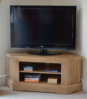 Wessex Oak Corner TV Cabinet