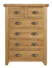 Wexford Oak 4 plus 2 Chest of Drawers