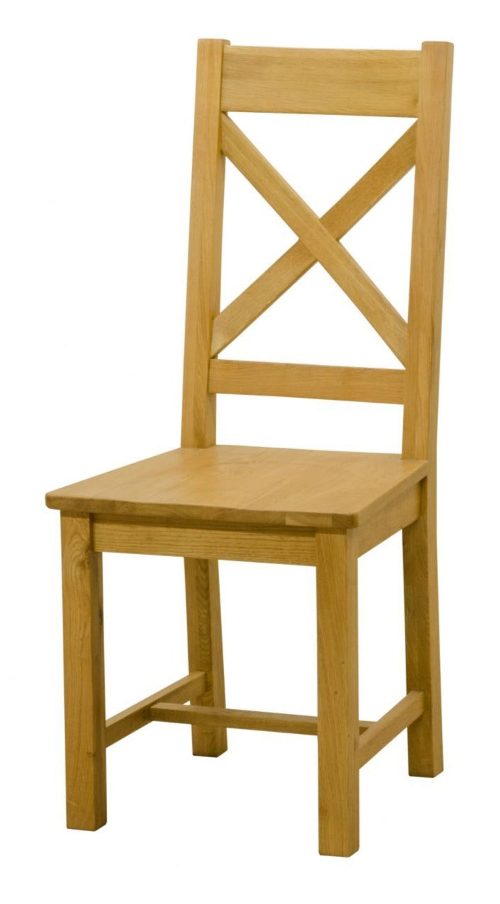 Wexford Oak Cross Back Chair