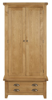 Wexford Oak Double Wardrobe with Drawer