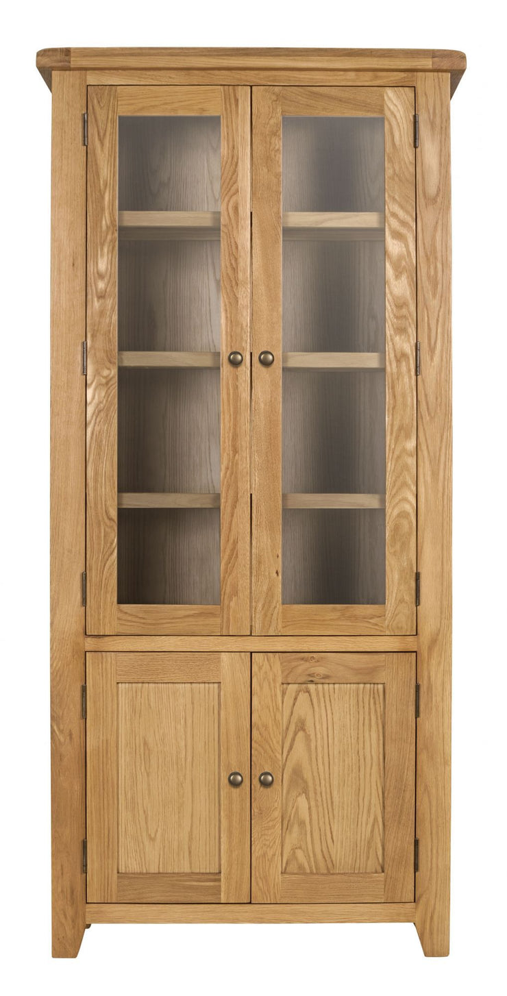Wexford Oak Glazed Display Cabinet