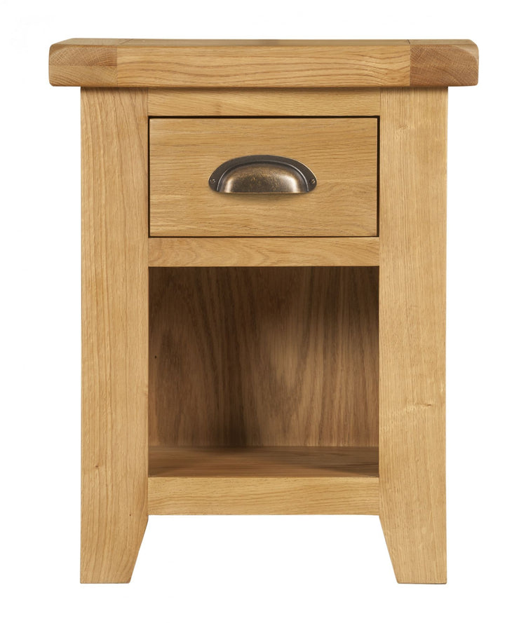 Wexford Oak Small 1 Drawer Bedside Table