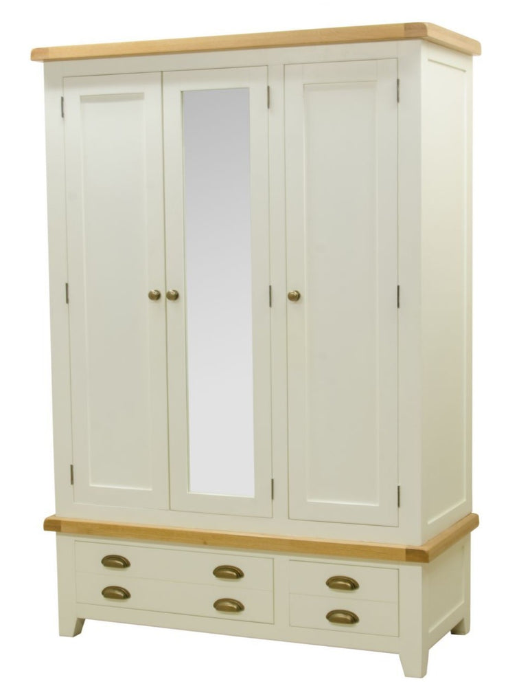 Wexford Painted Triple Wardrobe with Drawers