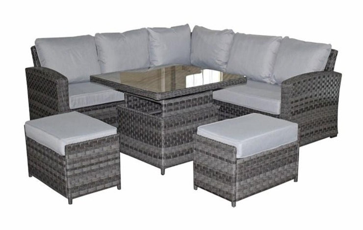 Grace Corner Group with Lift Table & Ottoman Seats
