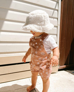 Light brown Palm Overalls
