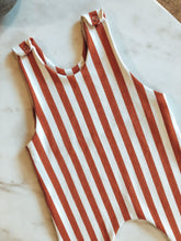 Load image into Gallery viewer, The Rusty Stripe Romper