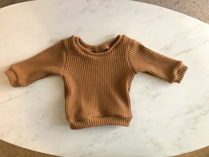 Caramel Pullover knit Sweater