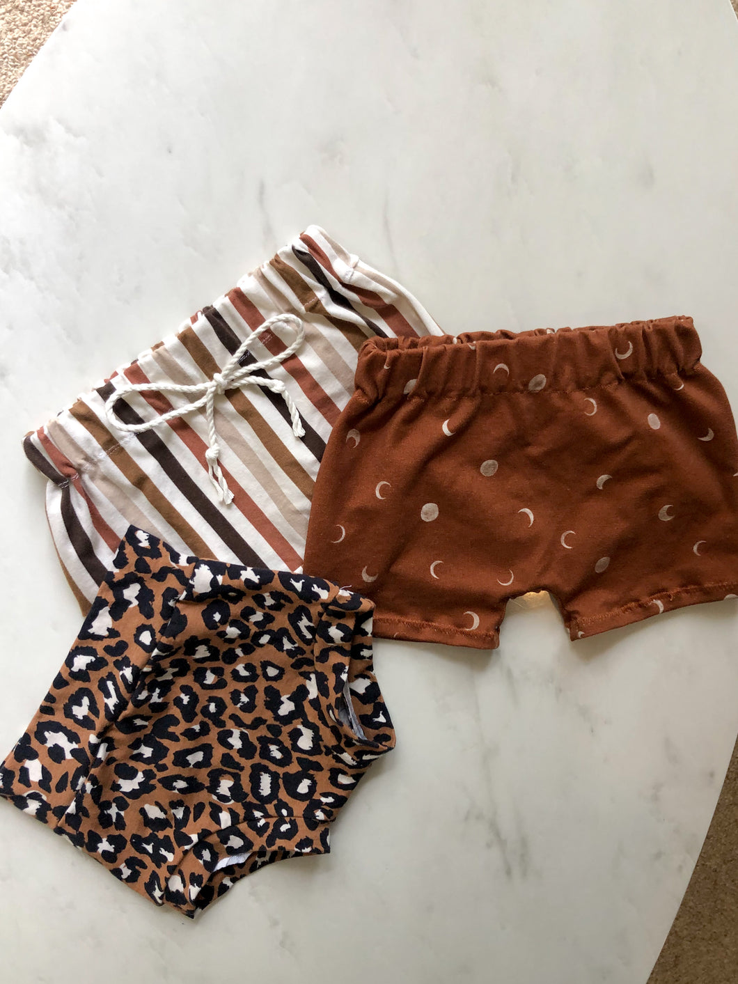 Brown moon shorts