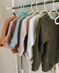 Khaki knit sweater