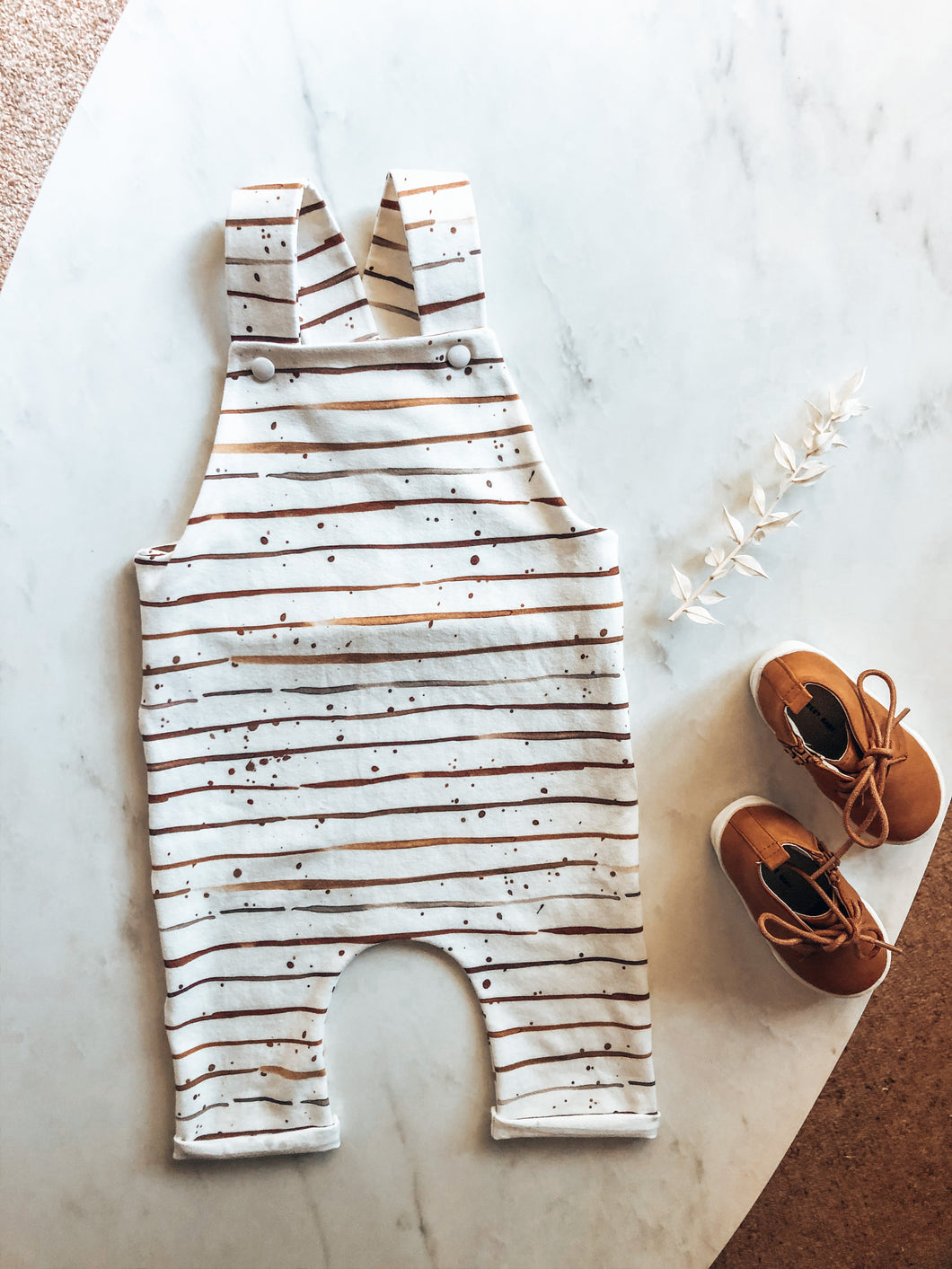 Watercolour stripe overalls