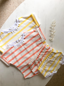 Coral stripe shirt