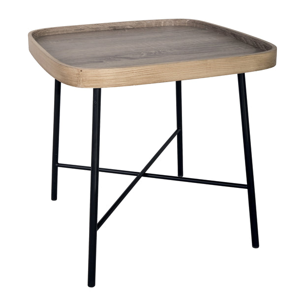 Dar Custer Wood Effect Square Side Table