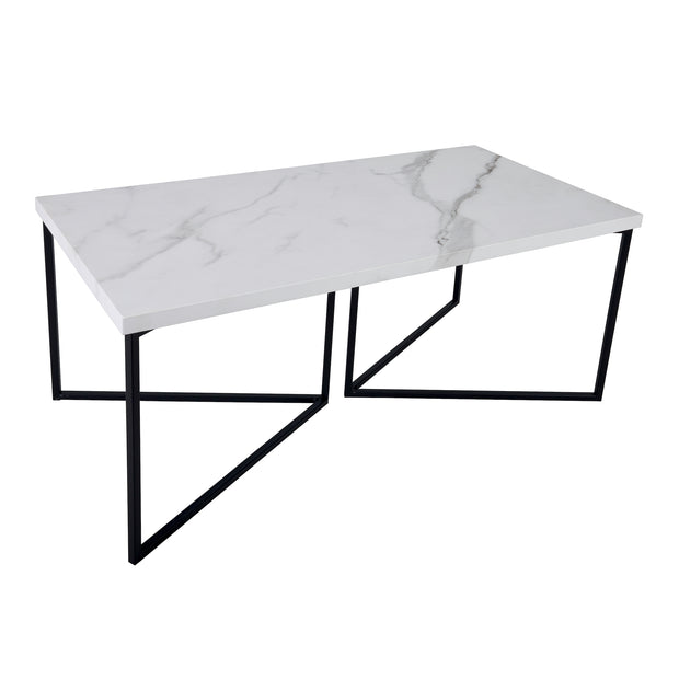 Dar Fotini White Marble Coffee Table