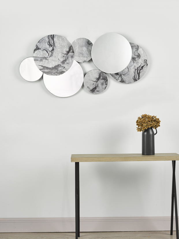 Dar Meco Rectangle Black Marble Effect Mirror