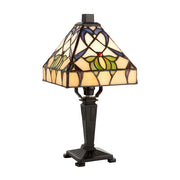 Interiors 1900 Alcea 1 Light Tiffany Table Lamp - 63898