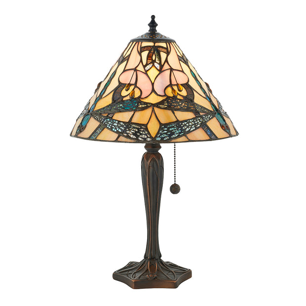 Interiors 1900 Ashton 1 Light Tiffany Table Lamp - 63924