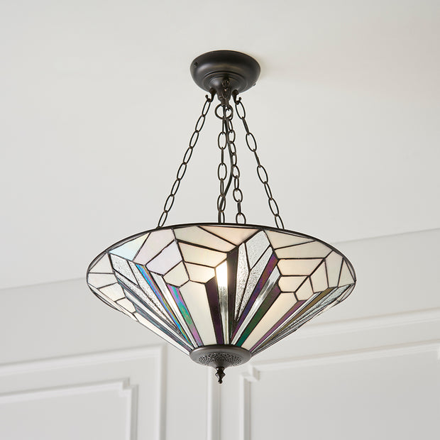 Interiors 1900 Astoria 3 Light Tiffany Pendant  - 63936
