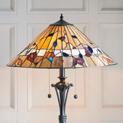 Interiors 1900 Bernwood 2 Light Tiffany Floor Lamp - 63946