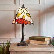 Interiors 1900 Botanica 1 Light Tiffany Table Lamp - 63962