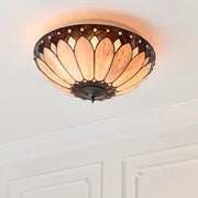 Interiors 1900 Brooklyn 2 Light Flush Tiffany Ceiling Light - 63973