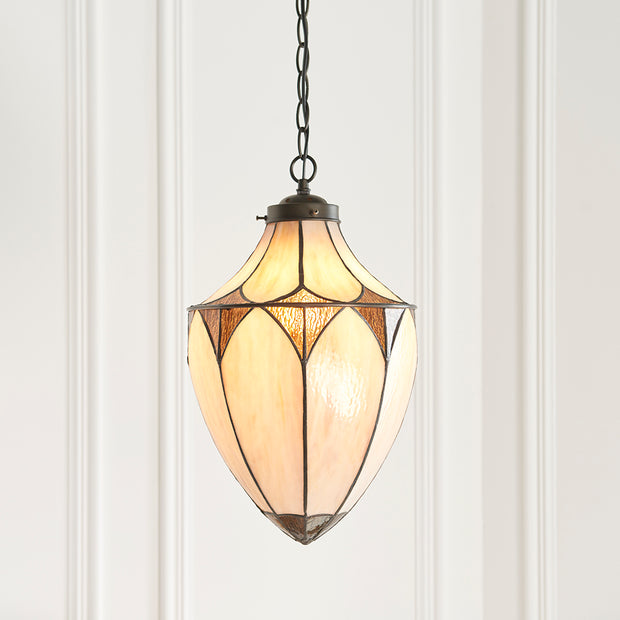 Interiors 1900 Brooklyn Single Tiffany Pendant Light - 63974