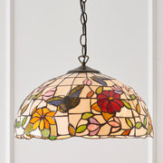 Interiors 1900 Butterfly Single Tiffany Pendant Light - 63994
