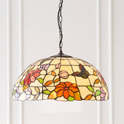 Interiors 1900 Butterfly 3 Light Tiffany Pendant - 63995